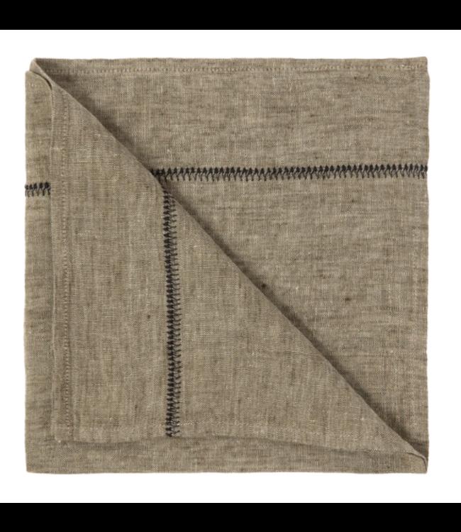 Servet Noé, gewassen linnen - laurier chambray