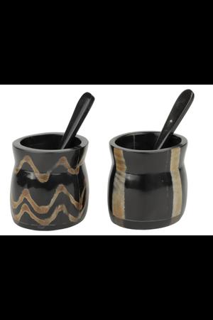 Caravane Duo van peper- en zoutpotjes - zwart