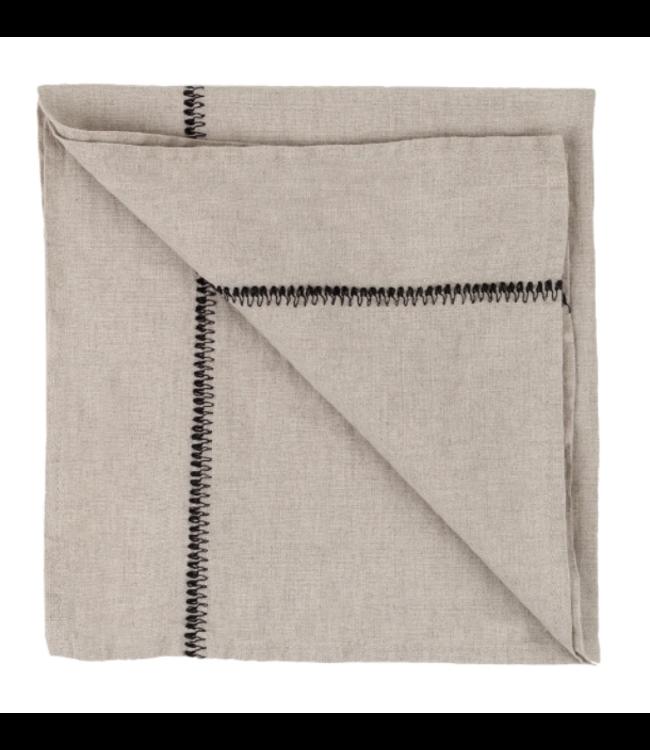 Napkin Noé, washed linen - natural