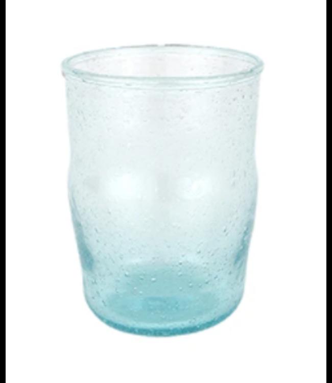 Bubbel gerecycleerd waterglas 'Hera' - ecume