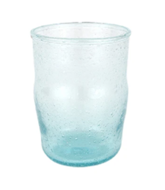 Bubble recycled water glass 'Hera' - ecume