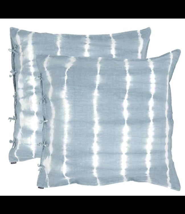 Caravane Set of 2 pillow cases in washed linen - horizon