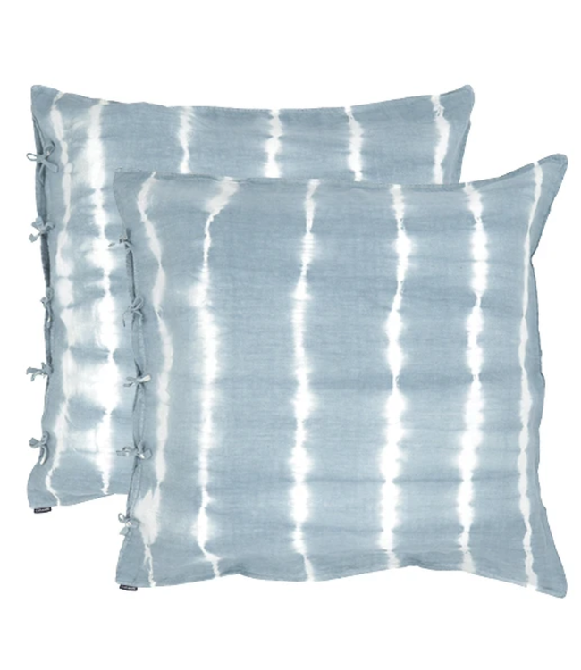 Set of 2 pillow cases in washed linen - horizon