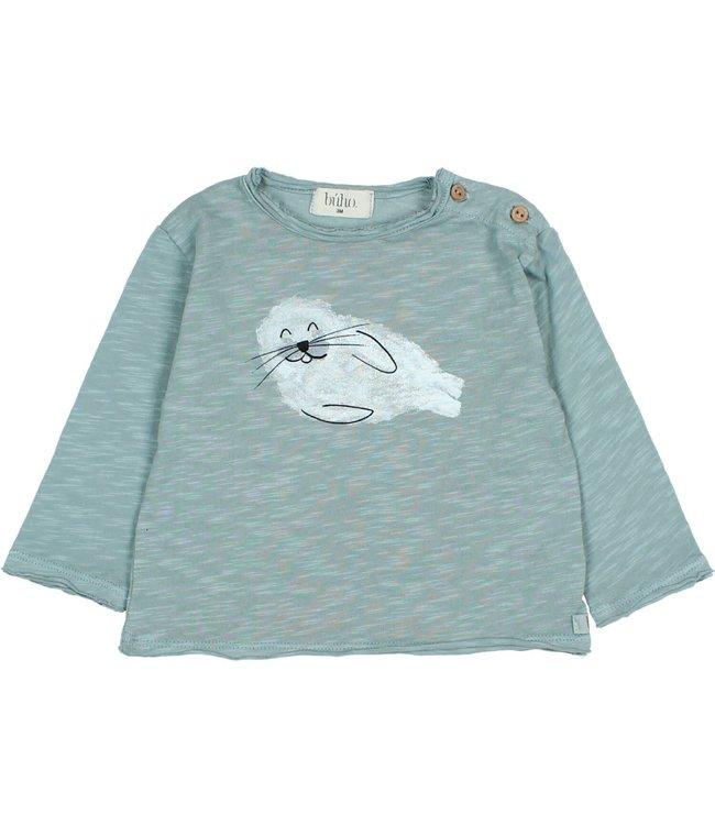 Buho Seal t-shirt - storm grey