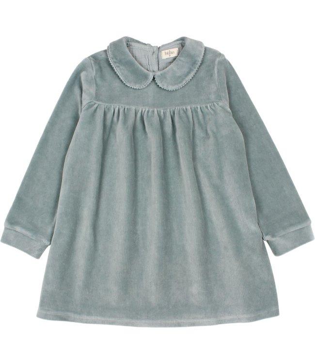 Velvet dress - storm grey