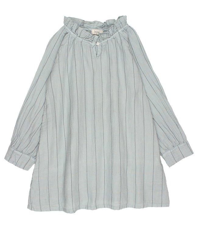 Buho Check lurex dress - storm grey