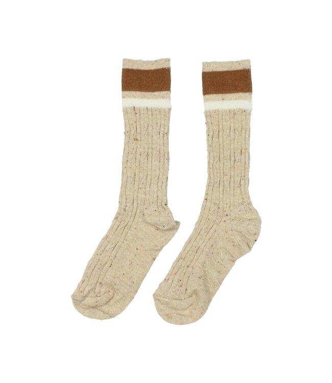 Rib band socks - natural