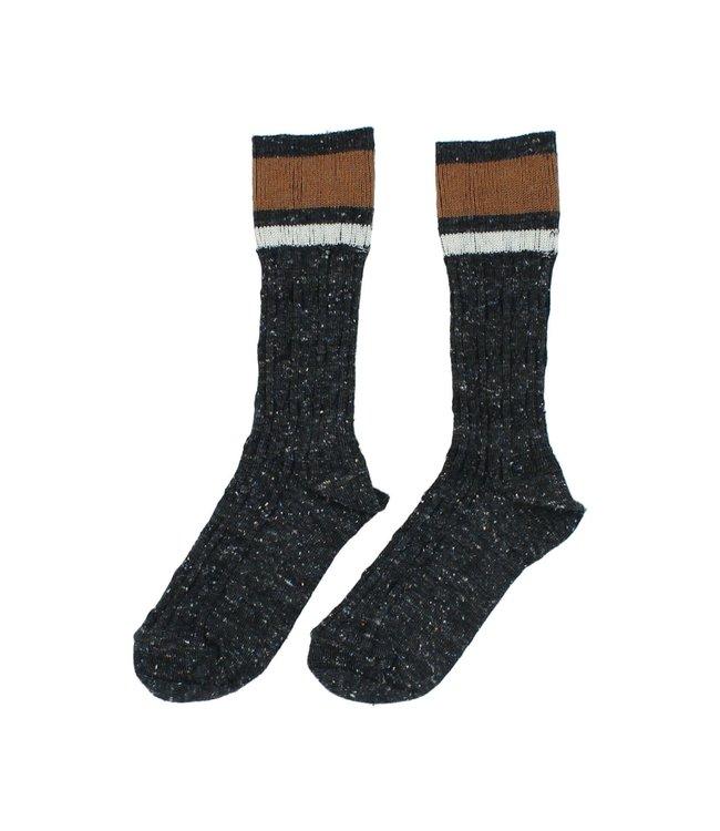 Rib band socks - dark grey
