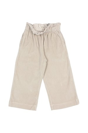 Buho Knit velour culotte pants - stone