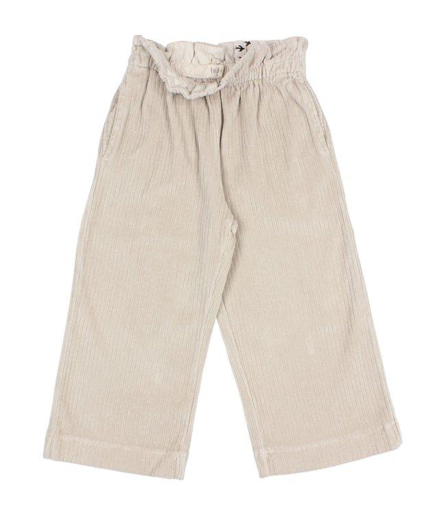 Knit velour culotte pants - stone
