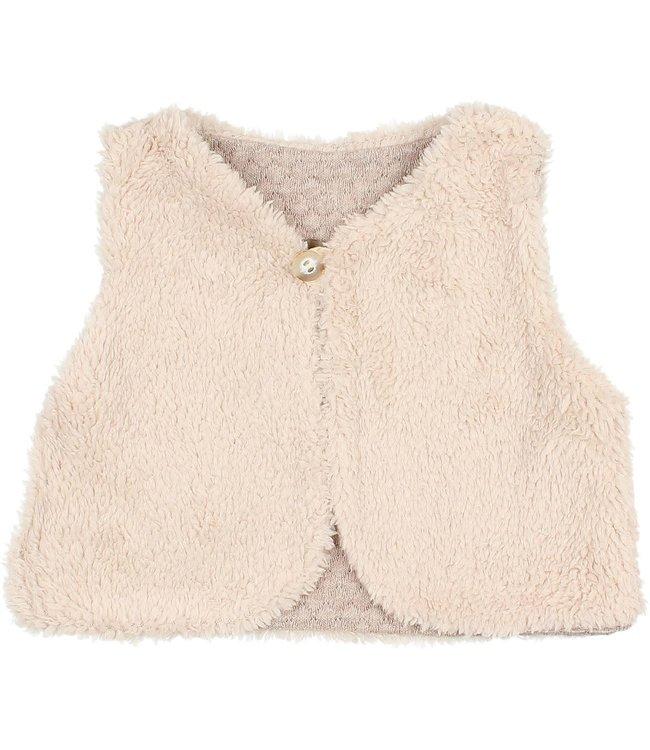 Soft jacquard waistcoat - natural