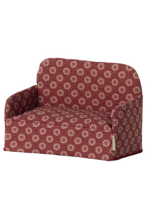 Maileg Couch, mouse - red