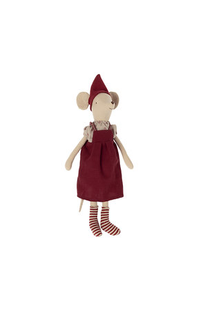 Maileg Christmas mouse, medium - girl