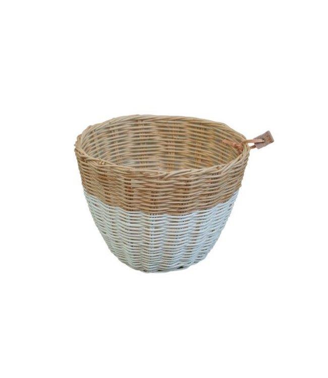 Rattan basket - white