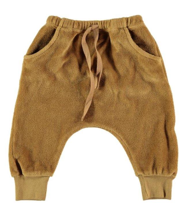 Bruno cotton velvet pants - mustard