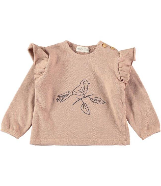 Abril jersey sweatshirt bird - pink