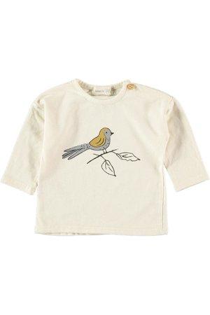 Bean's Barcelona Roc cotton t-shirt bird - ecru
