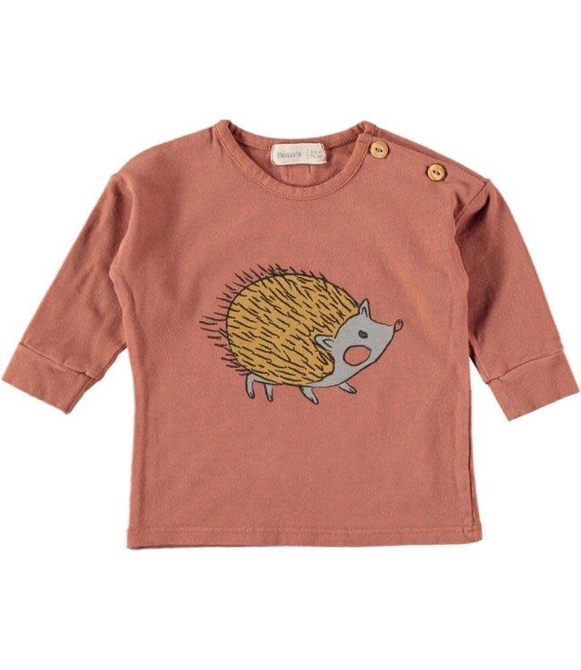 Bean's Barcelona Jana cotton t-shirt with print - tile