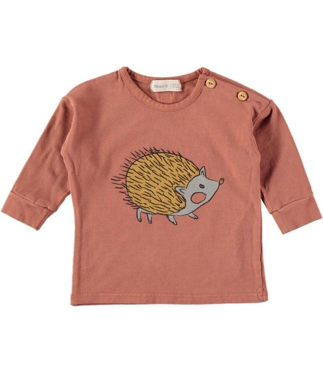 Jana cotton t-shirt with print - tile