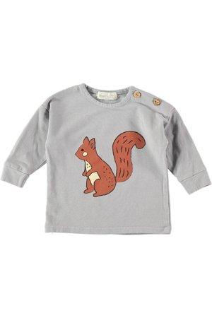Bean's Barcelona Jana cotton t-shirt with print - grey
