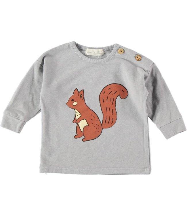 Jana cotton t-shirt with print - grey