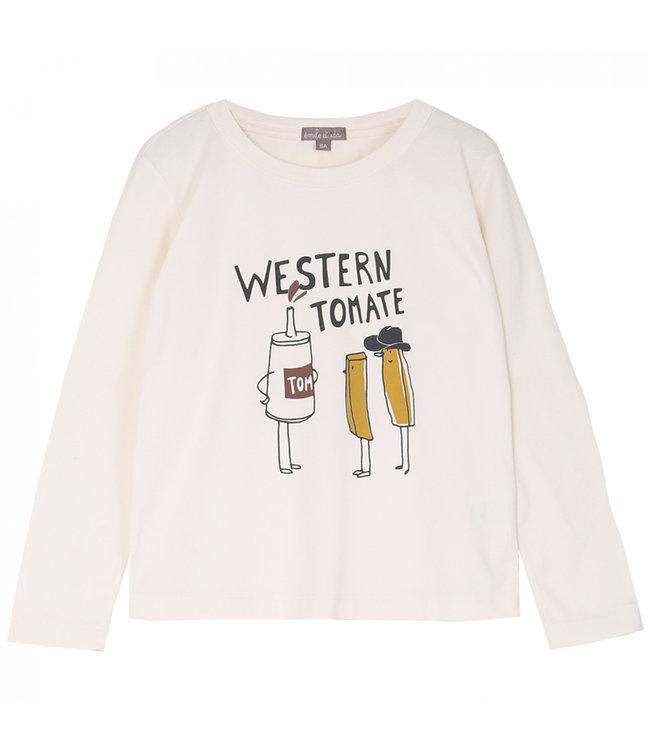 Tee shirt - ecru western tomate