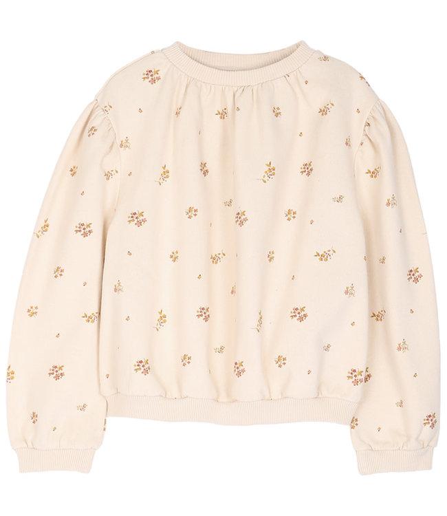 Sweatshirt - fleurs coquille