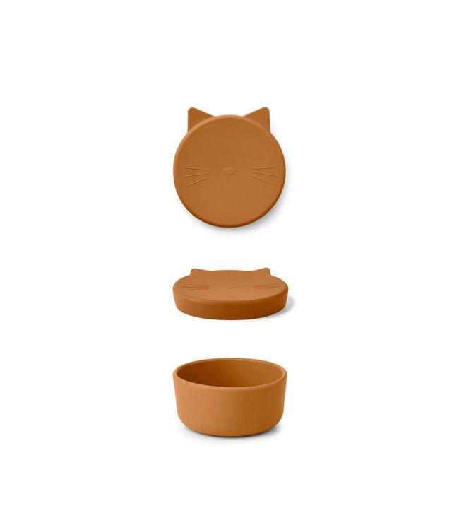 Liewood Cornelius snack box - cat mustard
