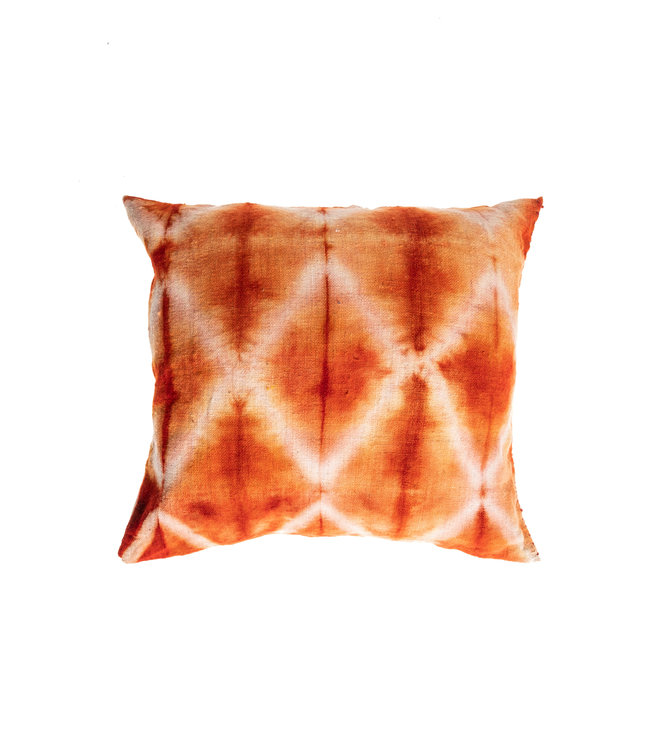 Cushion Bayeta garance losanges - shibori