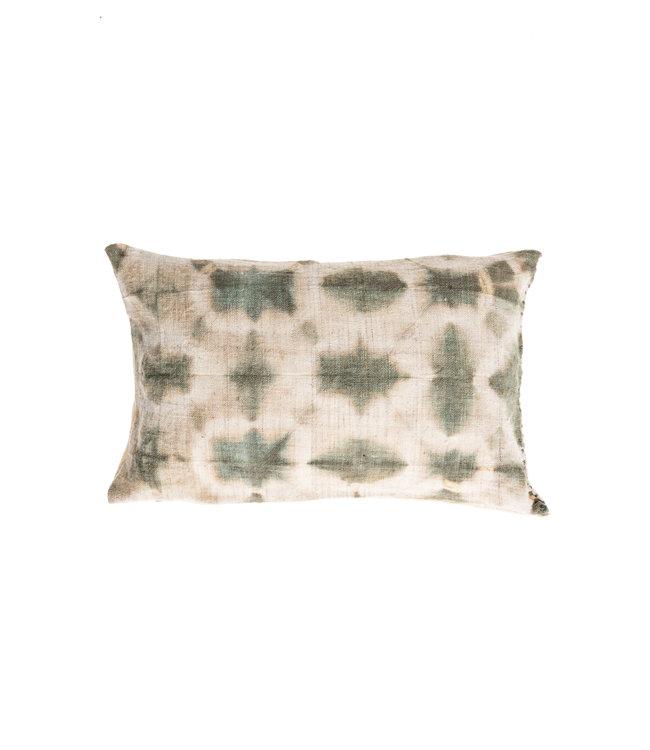 Cushion Bayeta aqua green cloud - shibori