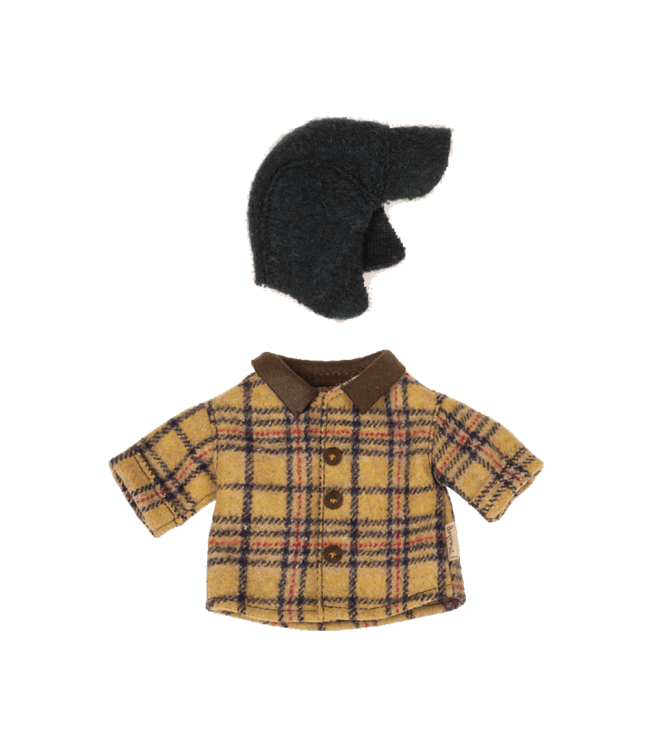 Woodsman jacket and hat for teddy dad