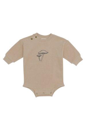Kidwild Collective Organic terry bodysuit - mushroom