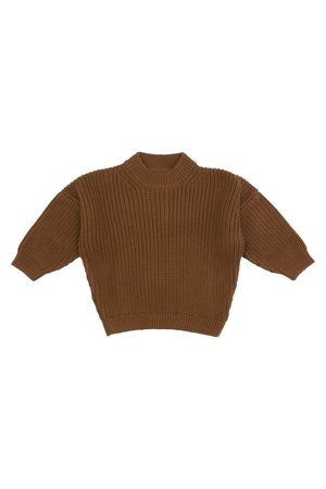 Kidwild Collective Organic chunky knit sweater - toffee