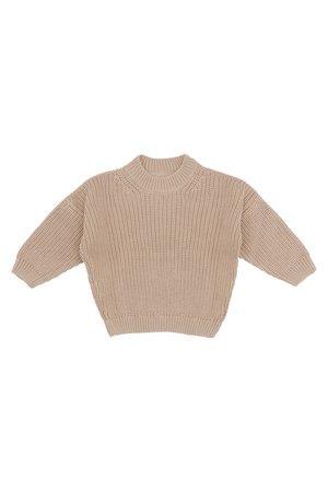 Kidwild Collective Organic chunky knit sweater - almond