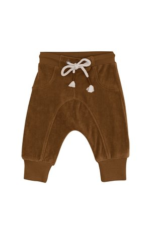 Kidwild Collective Organic velour joggers - toffee