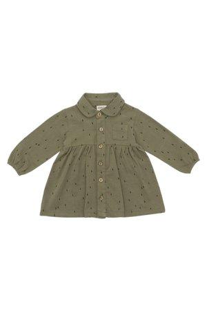 Kidwild Collective Organic shirt dress - AOP raindrop