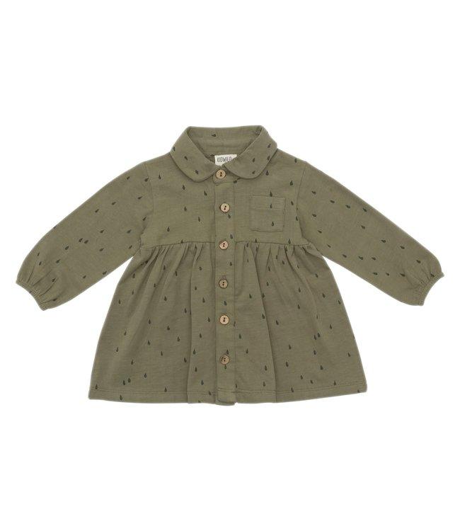 Organic shirt dress - AOP raindrop
