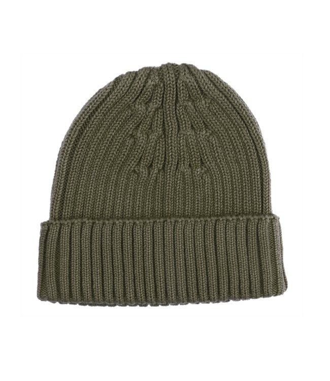 Kidwild Collective Organic rib knit beanie - forest