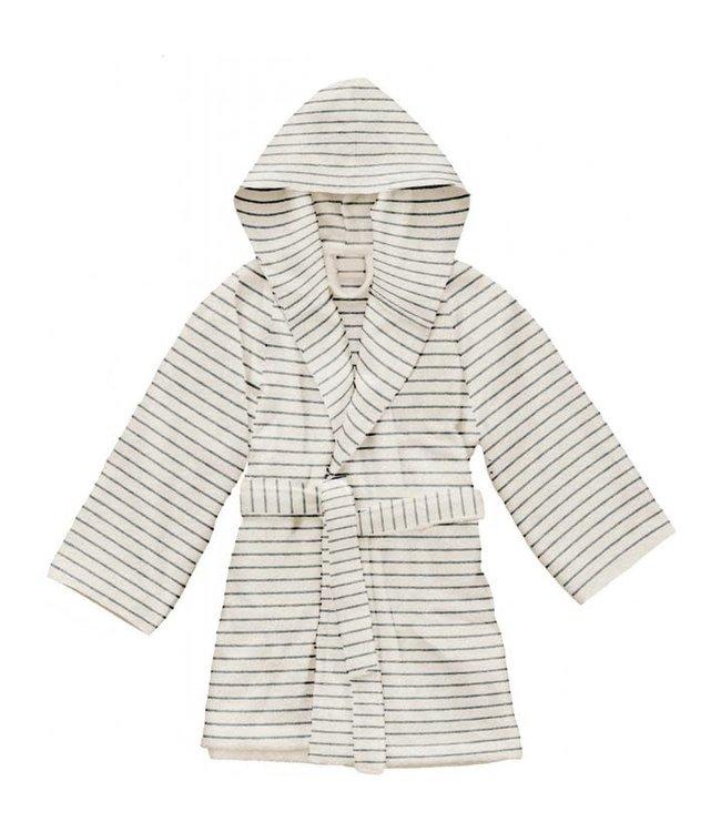 Kids terry bathrobe striped - shade of blue