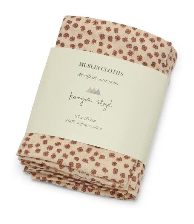 3 pack muslin cloth - buttercup rosa