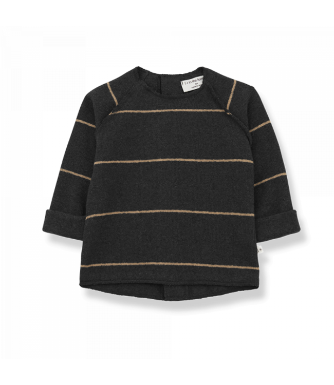 Gaspard baby sweater - charcoal