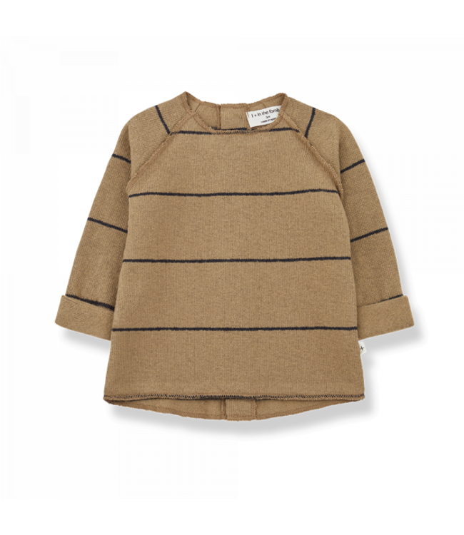 Gaspard baby sweater - brandy