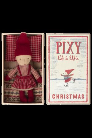 Maileg Pixy elfie in matchbox
