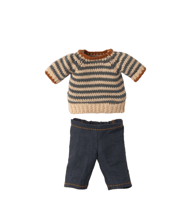 Blouse and pants for teddy dad