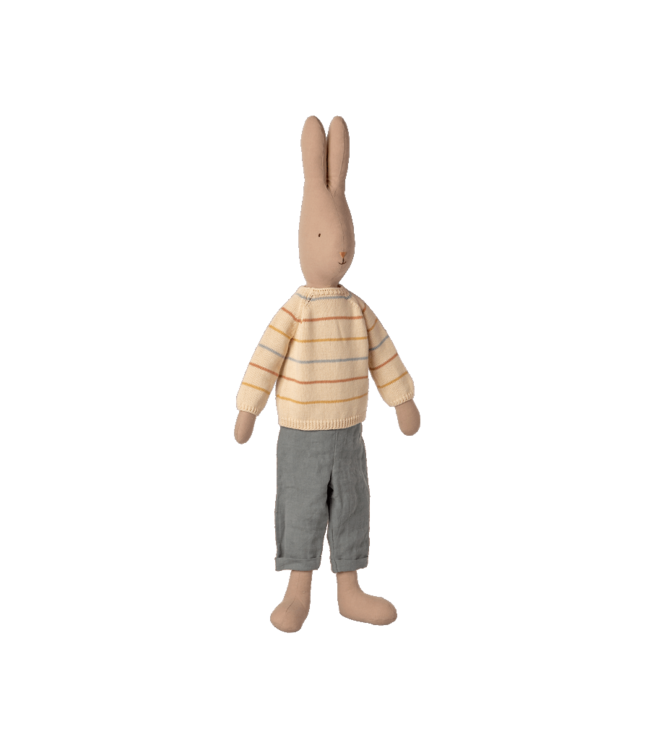 Maileg Rabbit size 5 , pants and knitted sweater