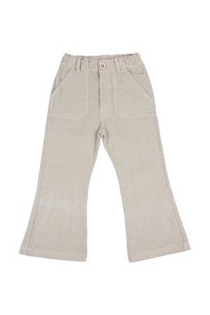 Buho Flared velvet pants - stone