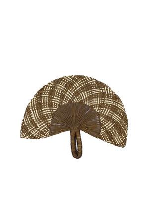 Handgeweven waaier - brown & beige # 4