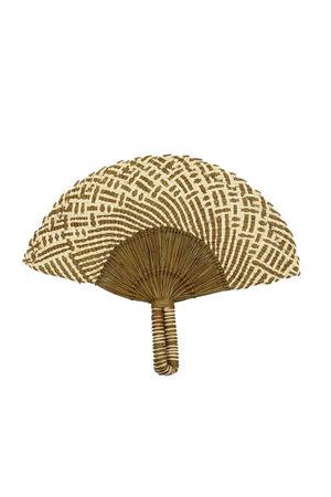 Handgeweven waaier - brown & natural 3