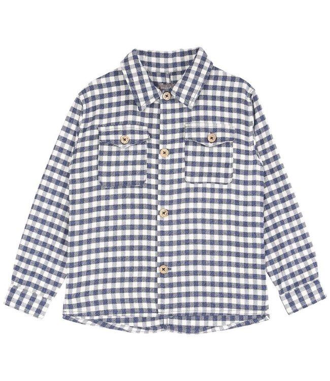Sur chemise - carreaux bleu