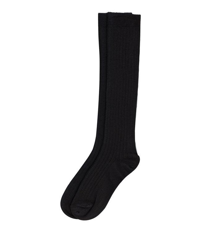 Rib long socks - dark grey